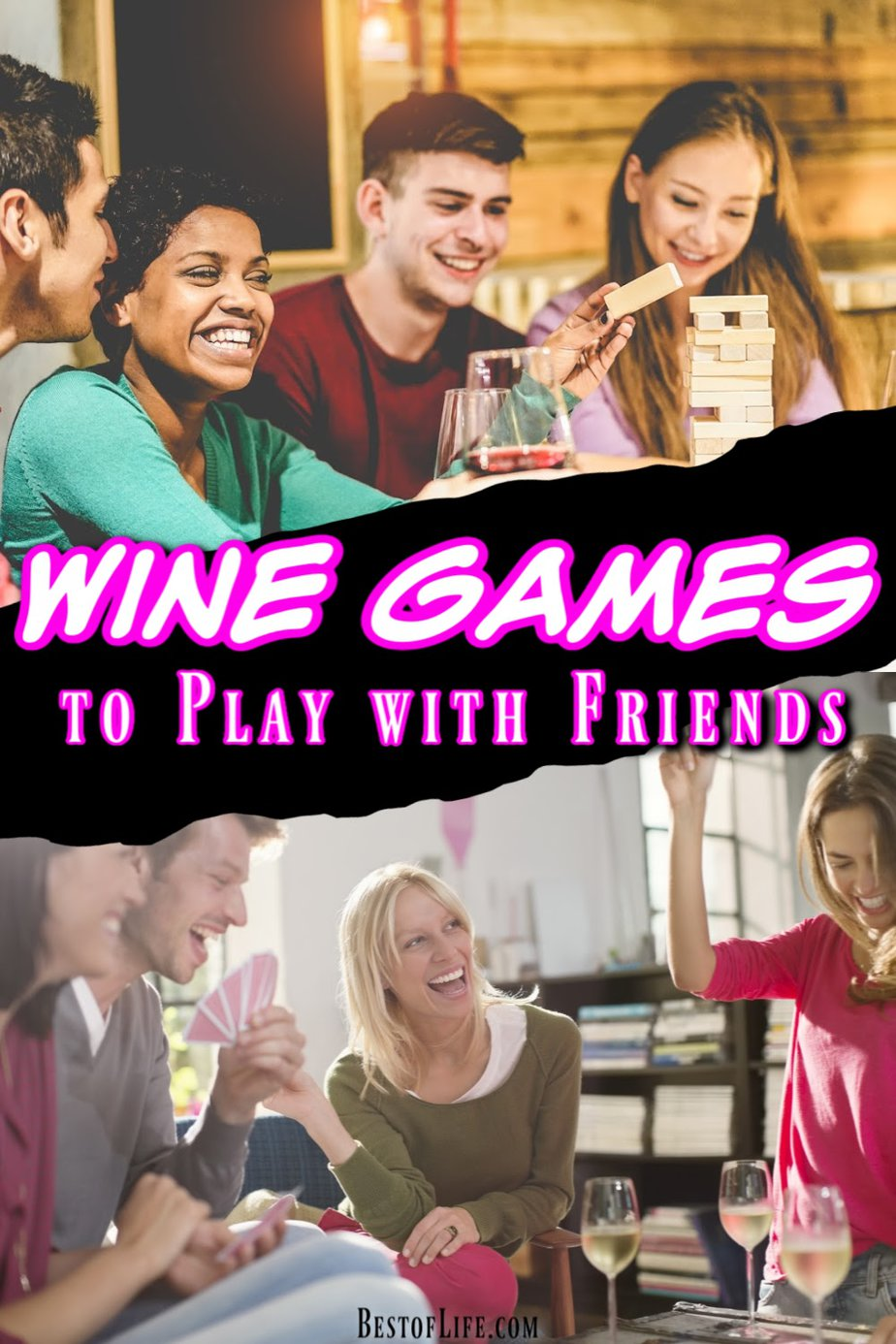 Wine drinking games are perfect for your wine tasting party, happy hour with friends, and even add some fun to an evening with wine at home. Wine Drinking Games | Best Drinking Games | Drinking Games for Parties | Party Drinking Games via @thebestoflife