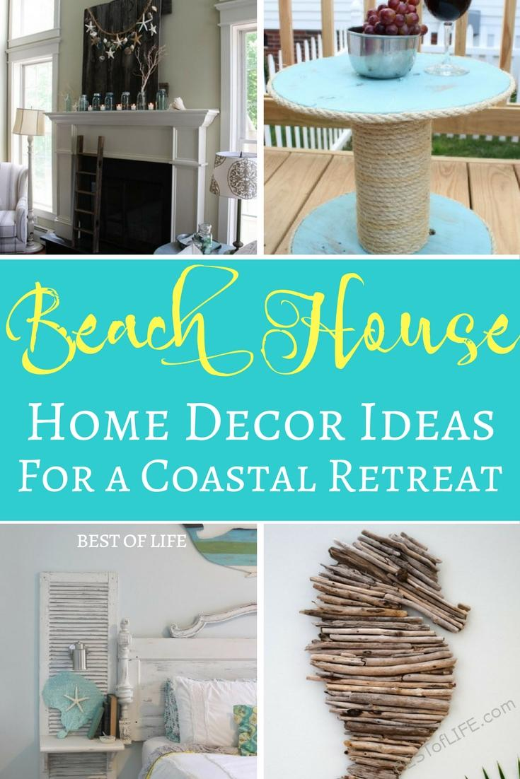 The best beach house home decor ideas are easy to do and create a sandy oasis feeling in your home that will make you just want to relax. Home Decor Ideas | Budget Home Decor | Home Decor on a Budget | Coastal Home Decor | Nautical Decor Ideas
