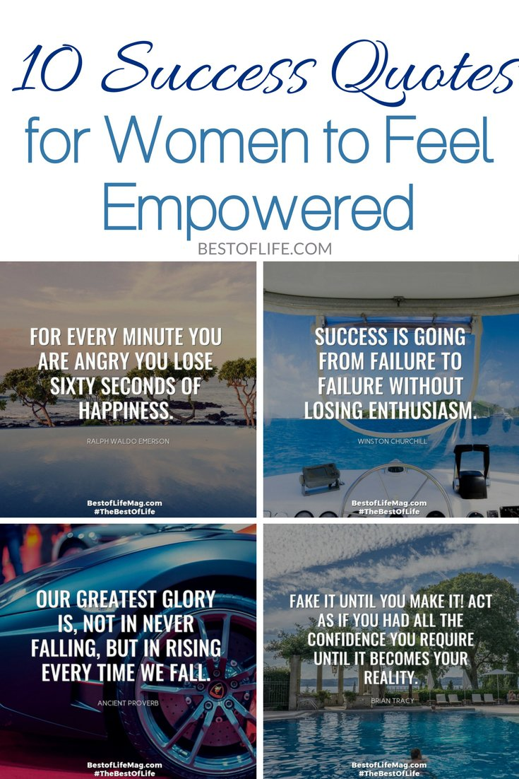 These 10 success quotes for women to feel empowered will do just that, make you feel inspired and empowered! You deserve to feel as powerful as you are! Empowering Quotes | Quotes for Life | Motivational Quotes | Quotes for Women | Quotes for Men  via @thebestoflife