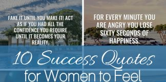 These 10 success quotes for women to feel empowered will do just that, make you feel inspired and empowered! You deserve to feel as powerful as you are! Empowering Quotes | Quotes for Life | Motivational Quotes | Quotes for Women | Quotes for Men