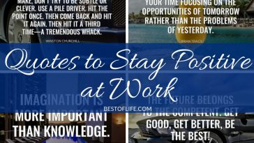 Don't stress, these are the best quotes to stay positive at work. You will be more productive than ever with a positive mindset!