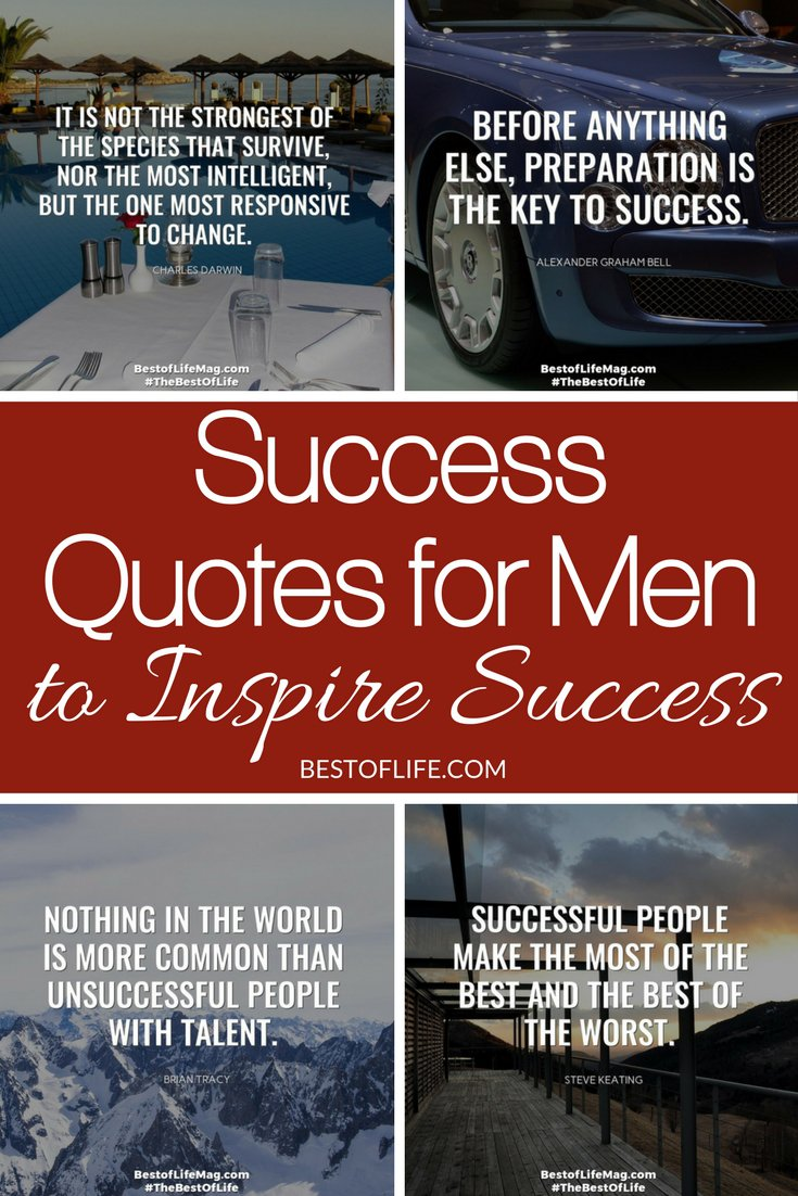 Inspiring Quotes On Life And Success Enchanting Success Quotes For Men  Inspirational Quotes For Work  The Best