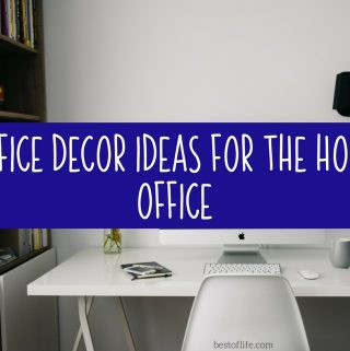 When looking for office decor ideas for your home office you have to incorporate your own style combined with functionality! Home Office Ideas | Home Office Organization | Office Decorating Ideas | Office Decorating for Work | Office Decor for a Cubicle
