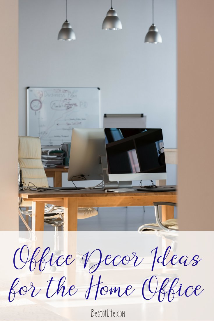 When looking for office decor ideas for your home office you have to incorporate your own style combined with functionality! Home Office Ideas | Home Office Organization | Office Decorating Ideas | Office Decorating for Work | Office Decor for a Cubicle via @thebestoflife