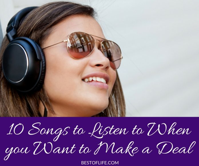 It's important to be pumped up when you want to make a deal! These are 10 songs you should listen to when you want to make a deal! Business Resources | Motivational Music | Hustle and Spark | Business Tips