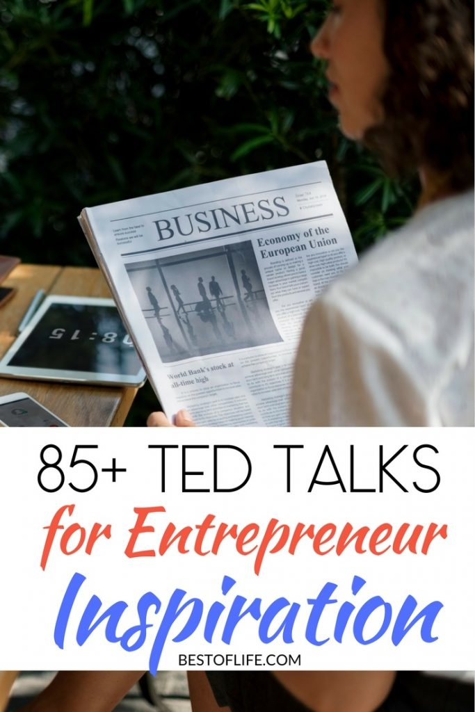 The best TED talks for entrepreneur inspiration will get you focused, feeling motivated, and on the right path to success in life and business. Best Podcasts | Entrepreneur Tips | Motivational Talks | Motivational Quotes