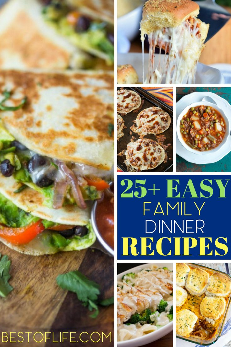 Spend less time cooking and more time with your family with these easy family dinner recipes. Easy family meals are key to meal planning! Easy Recipes | Main Dishes | Main Dish Recipes | Family Recipes | Family Meal Planning