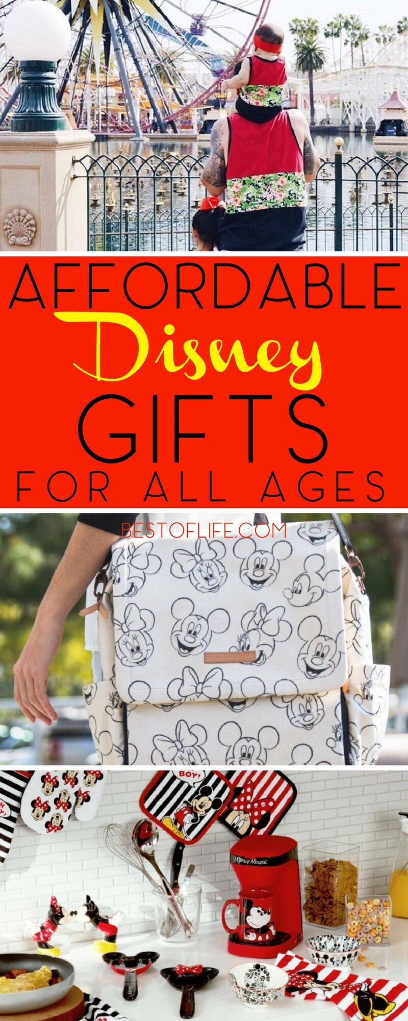 The love of Disney spans across the ages! Give these Disney gifts for all ages to the Disney fan in your life. Disney Gifts for Adults | Disney Gifts for Teens | Disney Gifts for your Boyfriend | Best Gift Ideas | Holiday Disney Gift Ideas