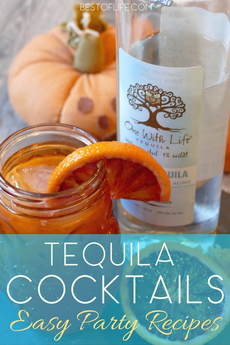 There is more to tequila than a margarita! Tequila cocktails are perfect for happy hour gatherings, parties, or to enjoy with chips and salsa! Tequila Recipes | Tequila Drinks | How to Drink Tequila | How to Make a Margarita | Cocktail Recipes