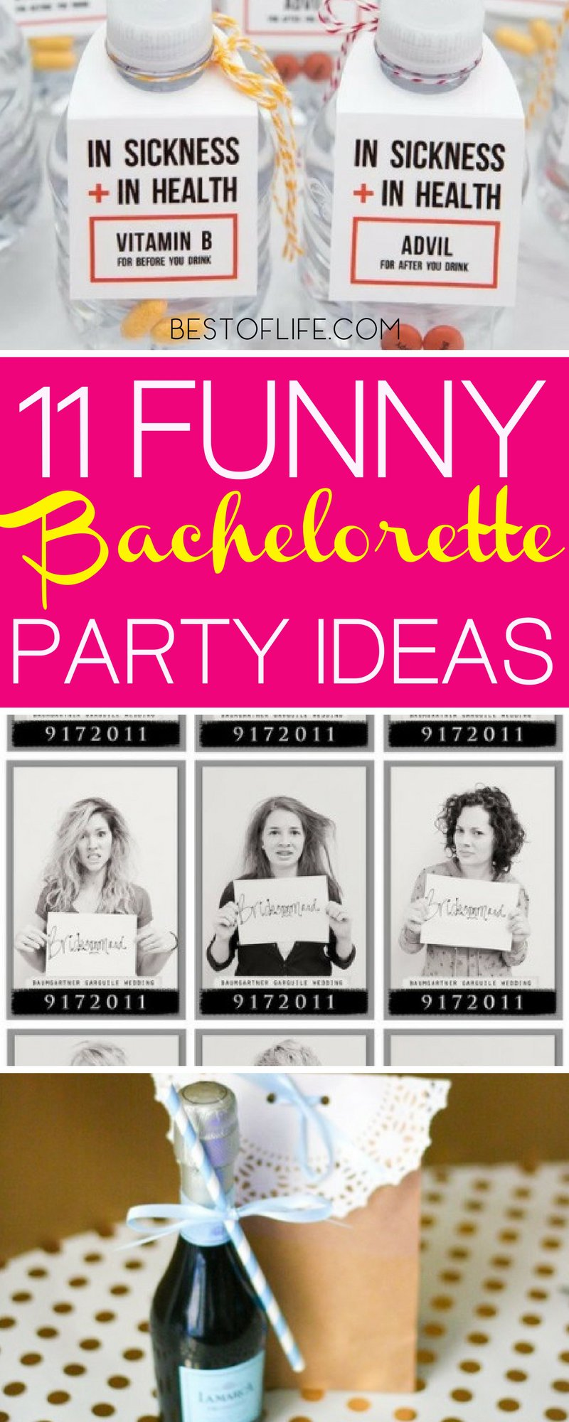 Celebrate the bride to be with a bachelorette party she will never forget! These hilarious bachelorette party ideas will help you plan the best party! Bachelorette Party Games | Bachelorette Party Games Scavenger Hunt | Bachelorette Party Ideas on a Budget | Bachelorette Party Games Clean | Ladies Night Games #partygames #partyideas #partyplanning #bachelorette #partyideas via @thebestoflife