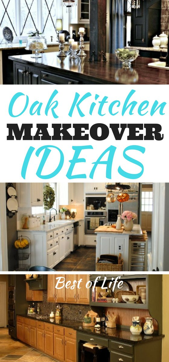 Kitchen remodeling ideas get our creative juices flowing! Use these oak kitchen makeover ideas to take your remodeling project to the next level! Kitchen Backsplash | Kitchen Decor | Kitchen Cabinets | Kitchen Remodel  via @thebestoflife