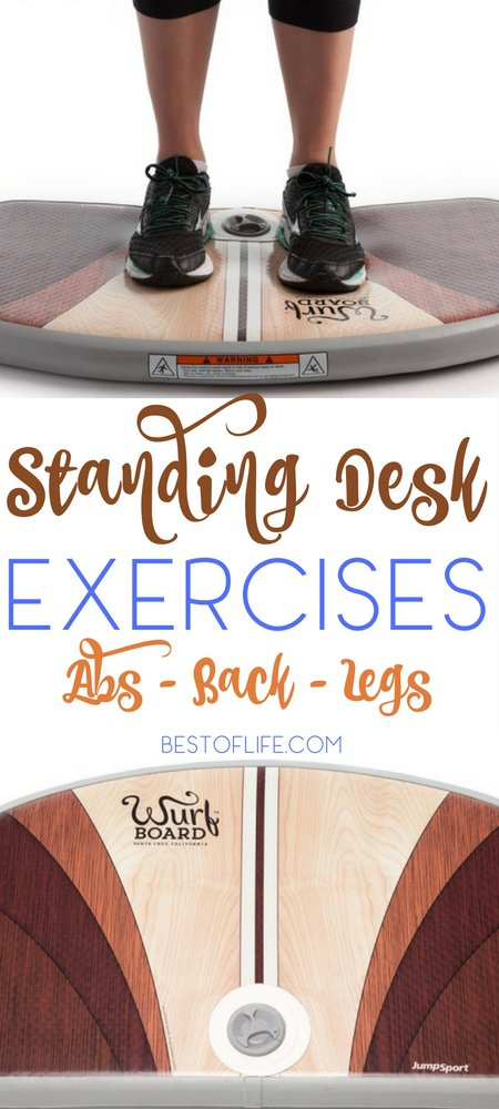 15 Standing Desk Exercises Abs Back Legs Wurf