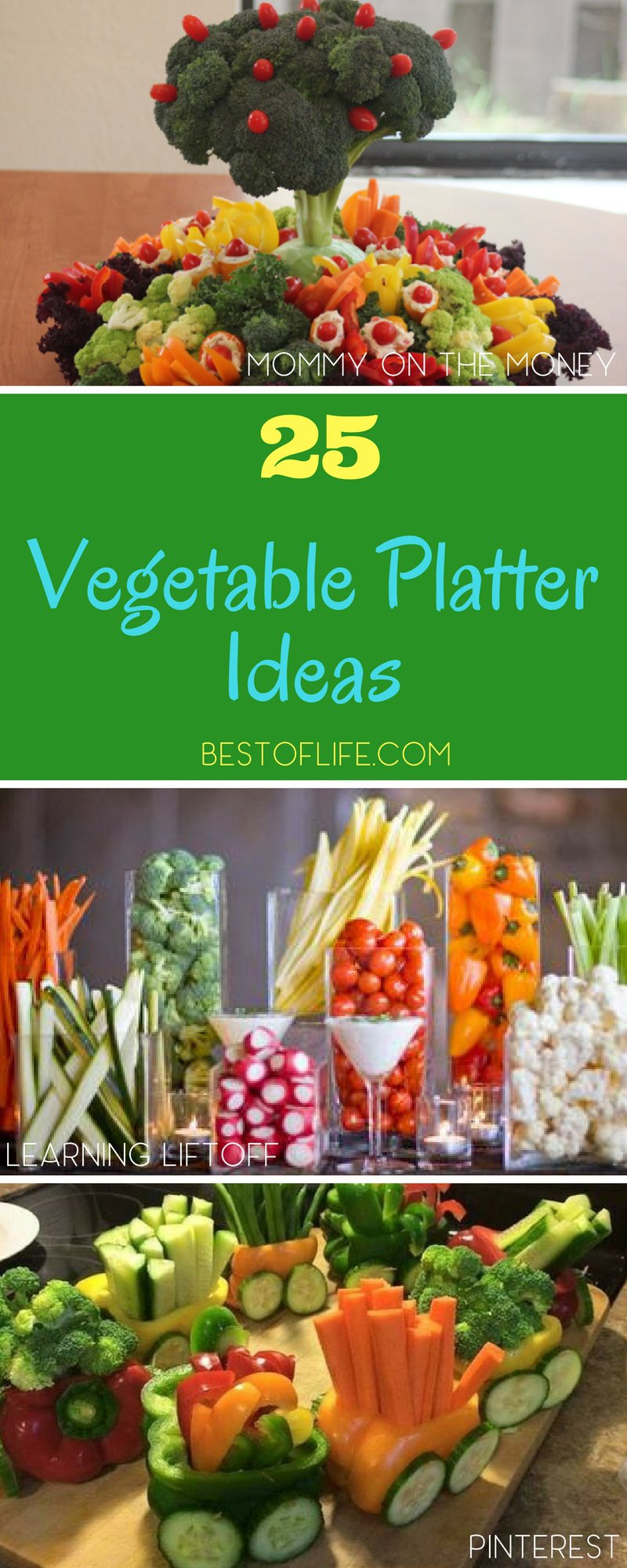 Whether entertaining a few friends, your family, or a crowd, a vegetable platter is a must have party food! These vegetable platter ideas will help you display them perfectly for the occasion. Vegetable Platter Display | Vegetable Platter Guide | Entertaining Tips | Party Food | Party Ideas | Party Food Ideas for a Crowd | Easy Party Food Ideas via @thebestoflife
