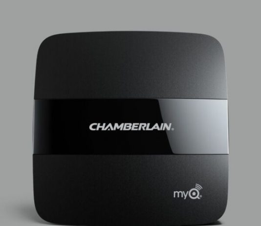 The Chamberlain MyQ Home Bridge is a device that extends your smart home from inside your home to your garage door with just a few simple steps. MyQ | Smart Home | tech | Gifts | Garage Door Tech | Apple HomeKit | HomeKit Devices | Apple | Liftmaster | Chamberlain