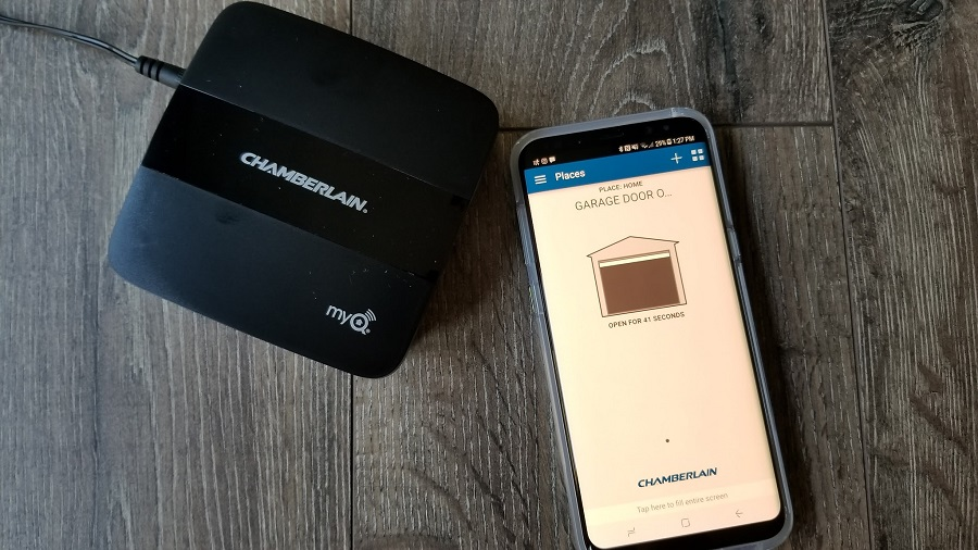 The Chamberlain MyQ® Home Bridge is a device that extends your smart home from inside your home to your garage door with just a few simple steps. MyQ® | Smart Home | tech | Gifts | Garage Door Tech | Apple HomeKit™ | HomeKit™ Devices | Apple | Liftmaster | Chamberlain