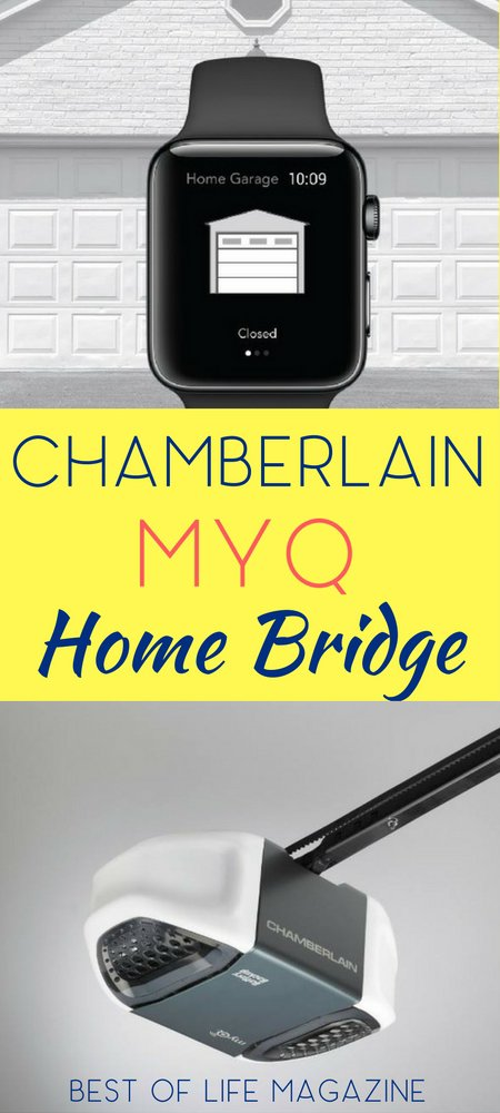 The Chamberlain MyQ Home Bridge is a device that extends your smart home from inside your home to your garage door with just a few simple steps. MyQ | Smart Home | tech | Gifts | Garage Door Tech | Apple HomeKit | HomeKit Devices | Apple | Liftmaster | Chamberlain via @thebestoflife