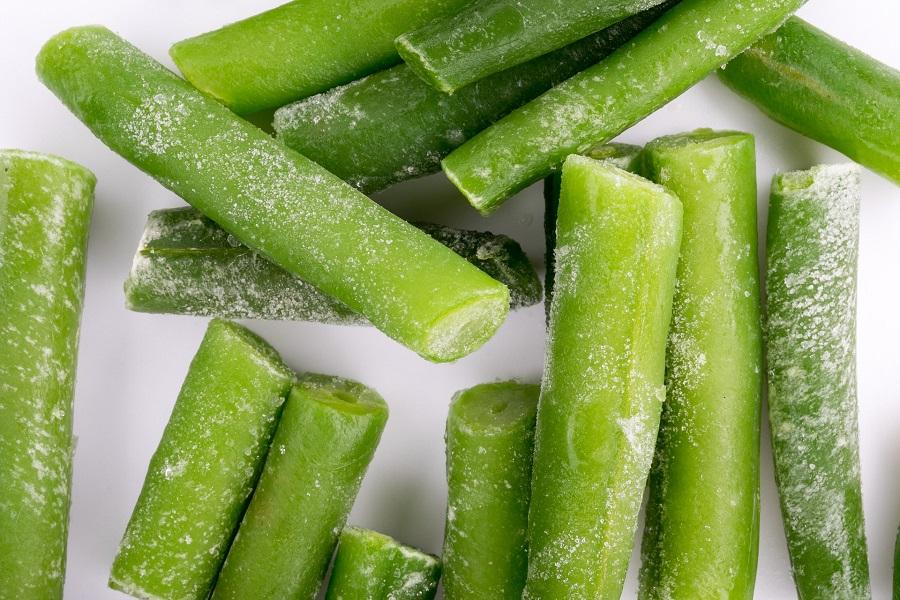 Green Bean Casserole Recipes Close Up of Frozen Green Beans