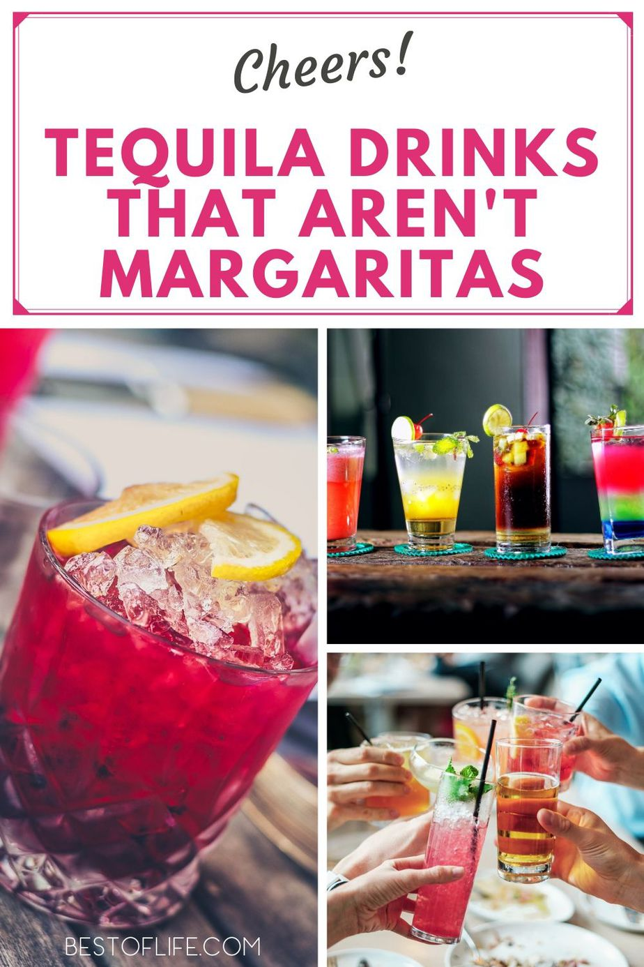 It's no secret we love margaritas, but there is so much more to do with tequila! From fruity drinks to coffees and spiced drinks, these tequila drinks that aren't margaritas are sure to be a favorite. Low Calorie Tequila Drinks | Tequila Cocktails | Tequila Drinks Recipes | Easy Tequila Drinks #easycocktails #cocktailrecipes #tequila #drinkrecipes via @thebestoflife