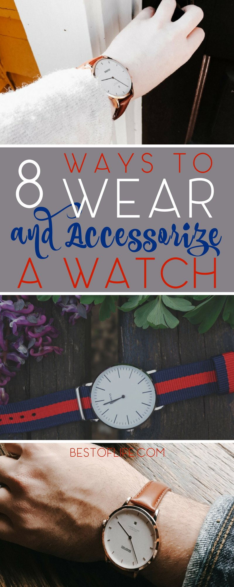 Express your personality when you wear a watch with fashionable looks and fun watch accessory ideas. How to Wear a Watch | Men's Fashion Tips | Jewelry Accessories | Watch Accessories  via @thebestoflife
