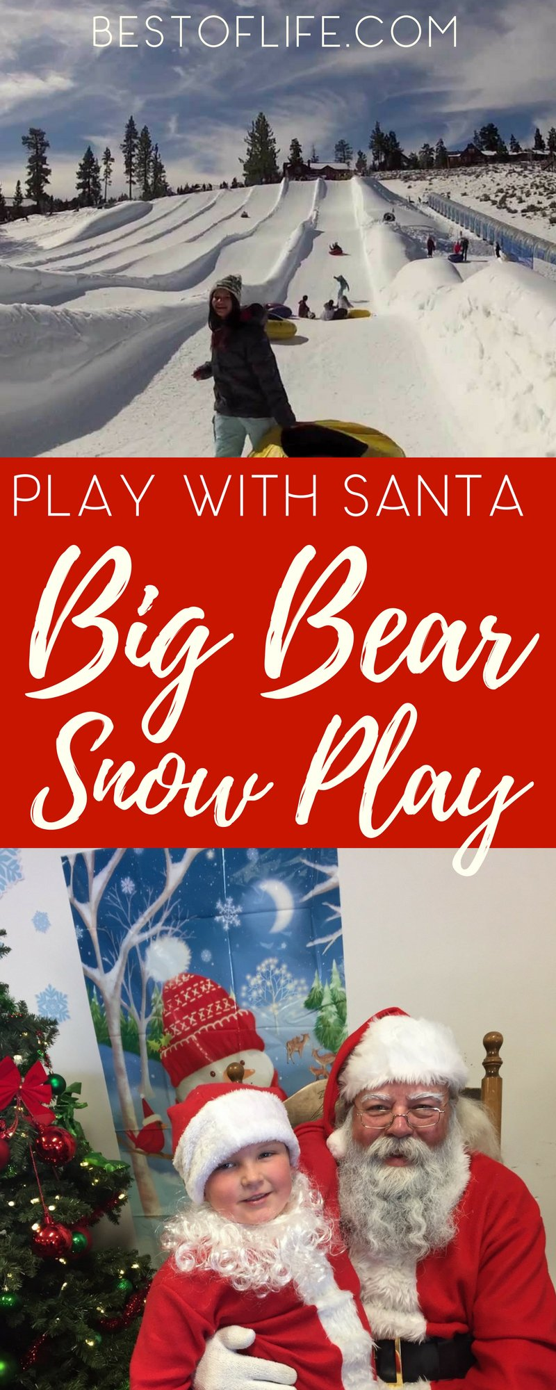 Snow tubing at Big Bear Snow Play in Southern California is a family tradition and this year, you won't want to miss Santa in Big Bear, tubing alongside everyone. Santa Claus Visit | Visit Santa Claus | Things to do in Big Bear | Big Bear Winter Activities | Big Bear Snow Play | Holiday Events in Big Bear | Things to do for Families in Big Bear
