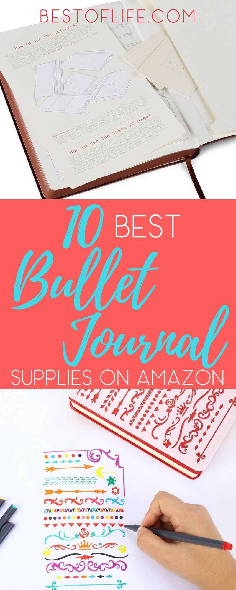Getting bullet journal supplies on Amazon is a great way to get started with a bullet journal and improve how you organize your life. Bullet Journal Tips | How to Start a Bullet Journal | Bullet Journal Supplies | Bullet Journal Pens | Bullet Journal Stencils | Washi Tape
