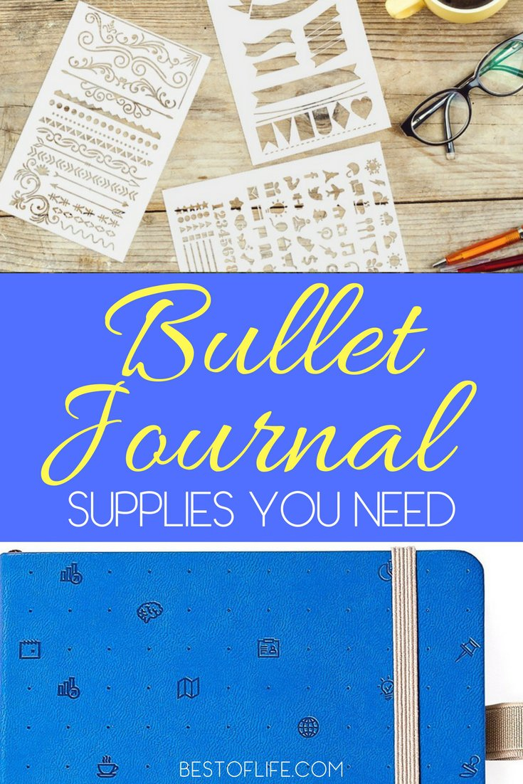 Getting bullet journal supplies on Amazon is a great way to get started with a bullet journal and improve how you organize your life. Bullet Journal Tips | How to Start a Bullet Journal | Bullet Journal Supplies | Bullet Journal Pens | Bullet Journal Stencils | Washi Tape via @thebestoflife