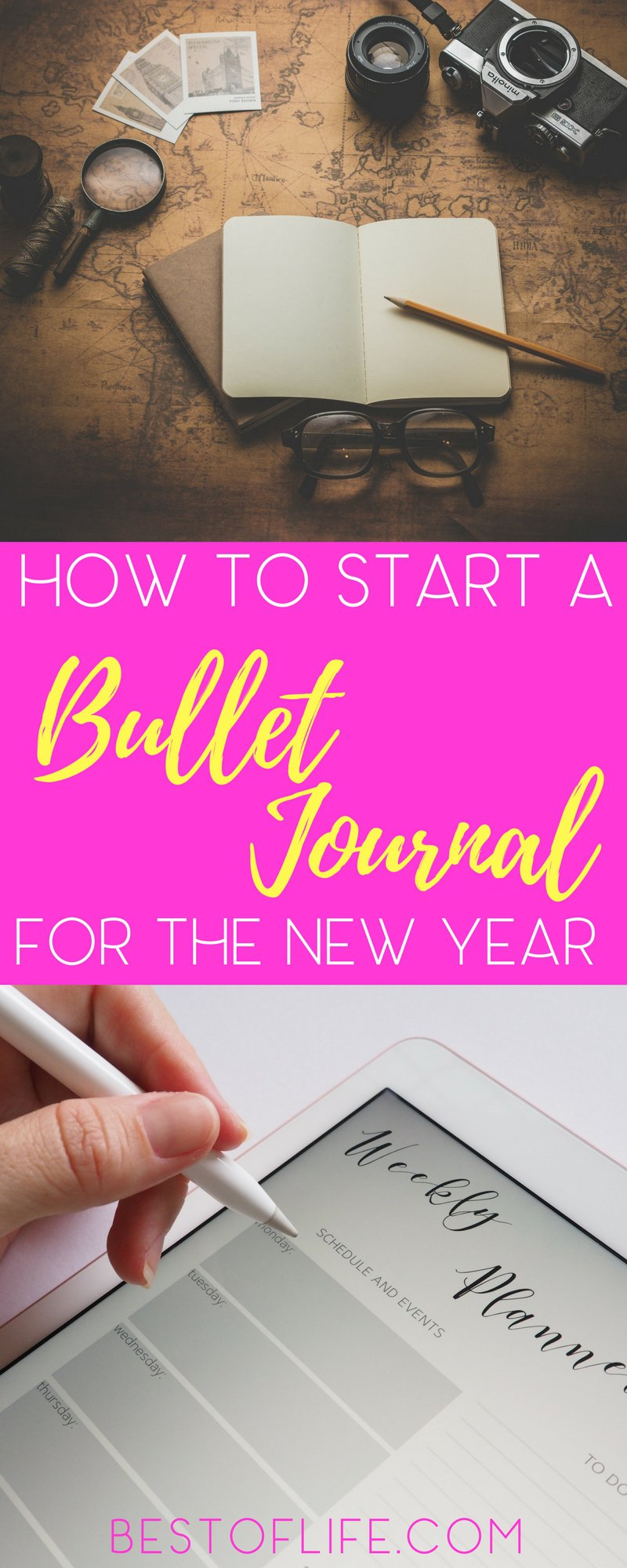 Having a bullet journal for the new year can help us stay organized so we can reach our goals and New Year's resolutions. Bullet Journal Ideas | Bullet Journal Tips | Best Bullet Journal Ideas | New Years Resolution | Planner Tips | BuJo for the New Year | BuJo Tips