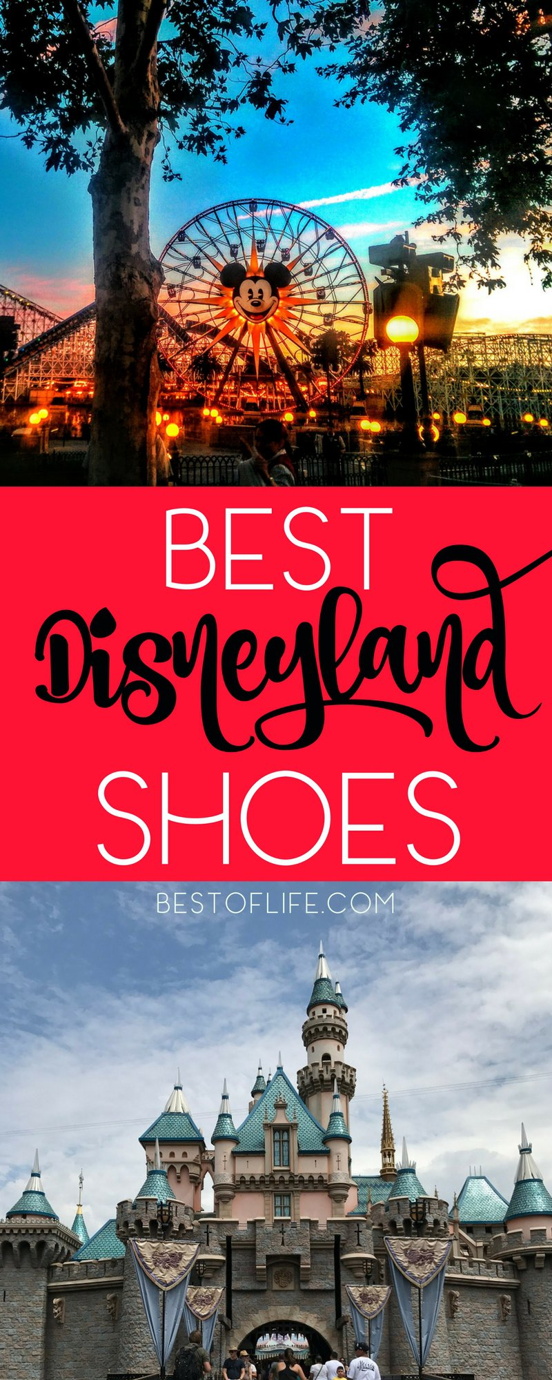 People walk an average of 15 miles per day while visiting a Disney park, which is why it's important to have the best shoes for Disneyland or any Disney vacation. Best Shoes for Disneyland | Most Comfortable Shoes for Disneyland | Affordable Shoes for Disney Parks | Disneyland Tips | Tips for Visiting Disneyland | Tips for Visiting Disney Parks | Disney World Travel Tips