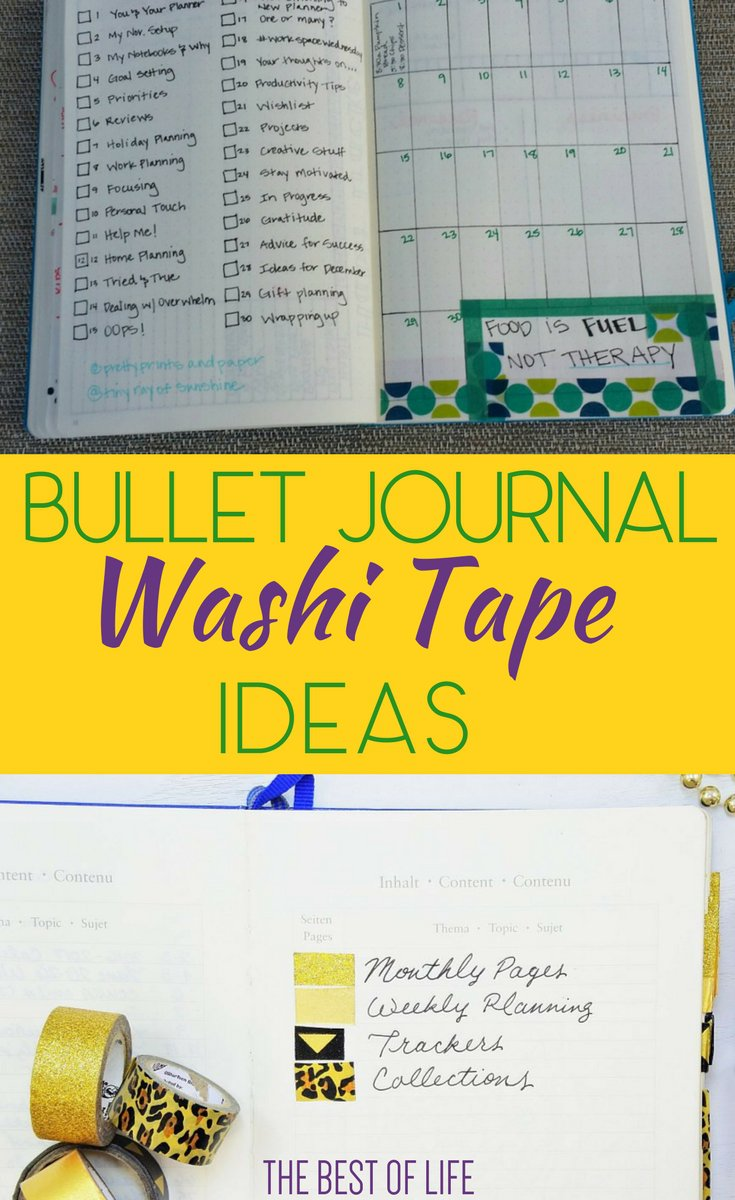Use the best washi tape ideas to get creative with your bullet journal and bring out any inner designer you may have. Easy Washi Tape Ideas | How to Use Washi Tape | What is Washi Tape | Bullet Journal Design Ideas | BuJo Designs | BuJo Ideas via @thebestoflife