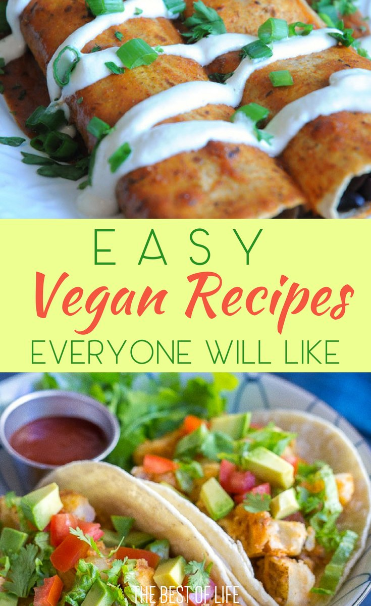 Easy vegan recipes can help you become or even stay a vegan without feeling like you're missing out on something delicious. Best Vegan Recipes | Vegan Recipes for Beginners | How to Become a Vegan | Quick Vegan Recipes | Healthy Recipe without Meat | Meatless Recipes | Easy Recipes with Vegetables