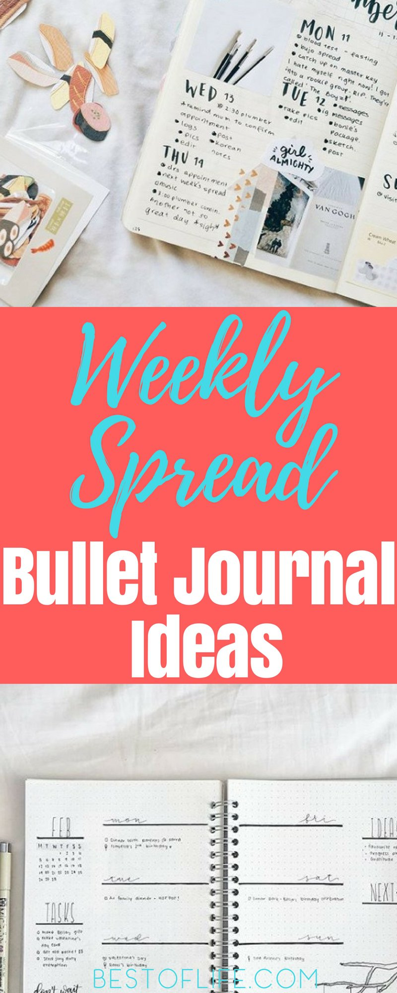The best and most simple weekly spread bullet journal ideas will make it easy to organize your life without working too hard. Bullet Journal Weekly Spread Ideas | Easy Weekly Spread Ideas #bulletjournal #BuJo #weeklyspread #organization #bulletjournaldailylog #journaling