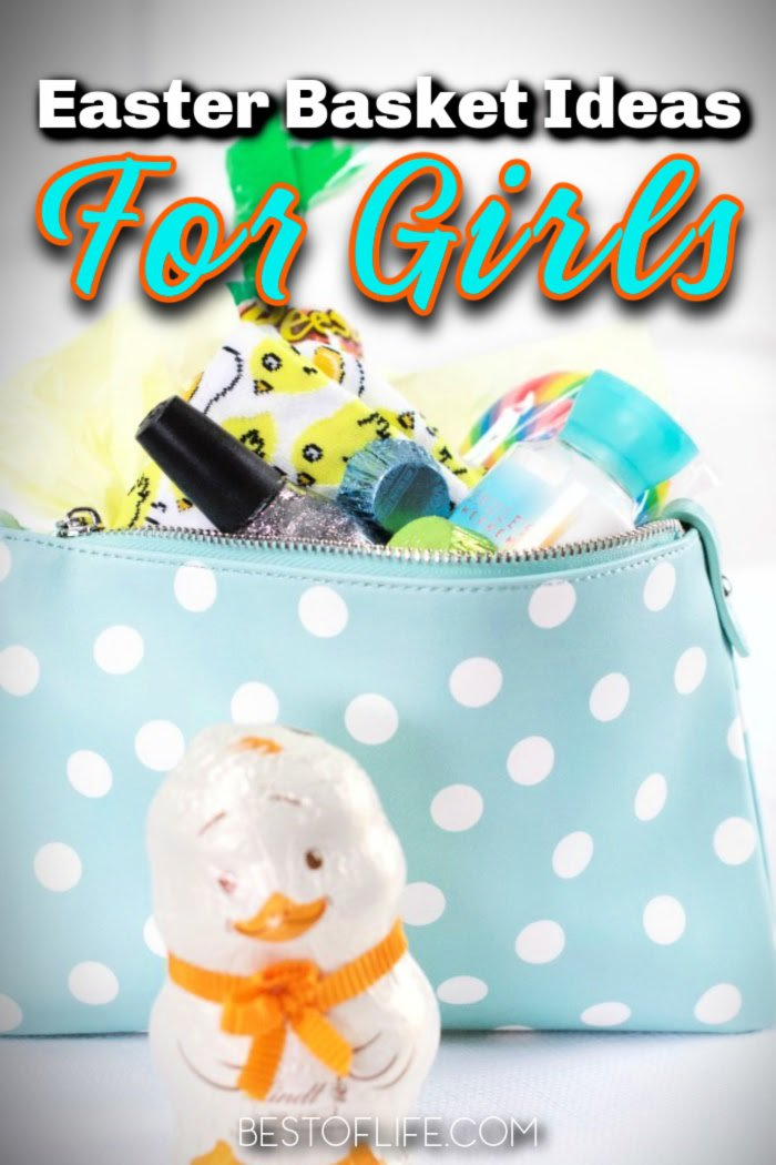 The best Easter basket ideas for girls can help the Easter Bunny build an Easter basket to remember for your daughter, niece, or special girl in your life. Easter Baskets for Teen Girls | Tween Easter Basket Ideas | Girls Easter Basket Fillers | Easter Basket Fillers for Tweens | Easter Baskets for Toddler Girls | Cheap Easter Basket Stuffers | Toddler Easter Basket Tips #easter #Holidays