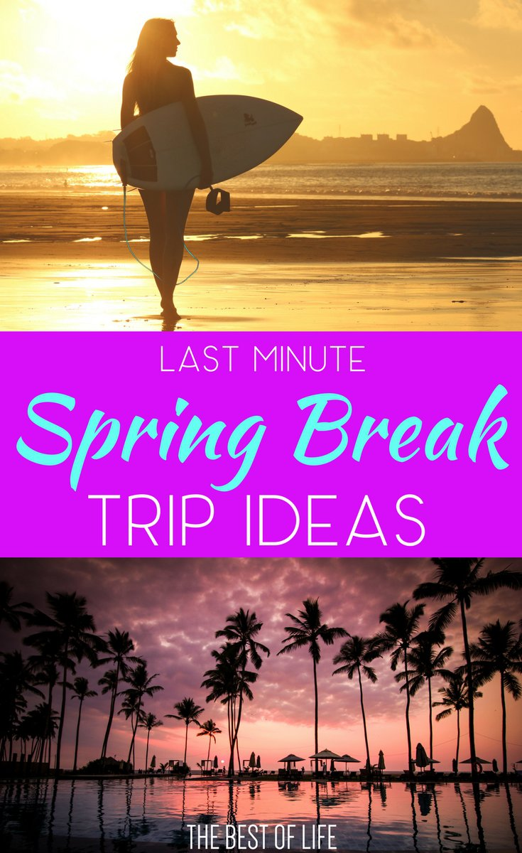 Some of the best vacations are planned at the last minute. Travel to the best destinations for that last minute spring break trip. Spring Break Travel | Travel Tips | Best Spring Break Destinations | Last Minute Travel Tips | Travel Destination Ideas | Easy Travel Destinations