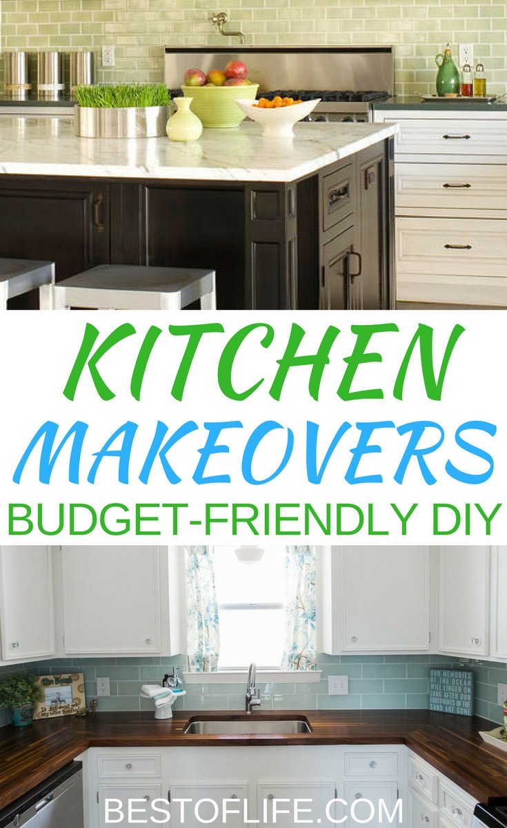 There are plenty of DIY projects one can do in their home and kitchen makeover ideas are the perfect place to start when you want to spruce things up a bit. DIY Ideas | DIY Remodel Ideas | DIY Kitchen Ideas | DIY Home Makeover Ideas | Best DIY Kitchen Ideas | Easy DIY Kitchen Ideas | Cheap DIY Kitchen Ideas via @thebestoflife