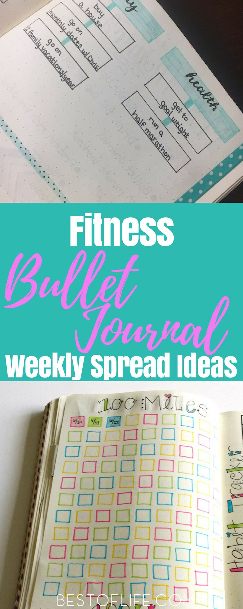 There are several ways one can use a fitness bullet journal to track fitness habits and reach health goals. One way is through a strategically-designed weekly spread. Fitness Tips | Best Fitness Tips | Easy Fitness Tips | Fitness Bullet Journal Tips | Easy Fitness Bullet Journal Tips | Best Fitness Bullet Journal Tips | Fitness BuJo Tips | Fitness BuJo Ideas