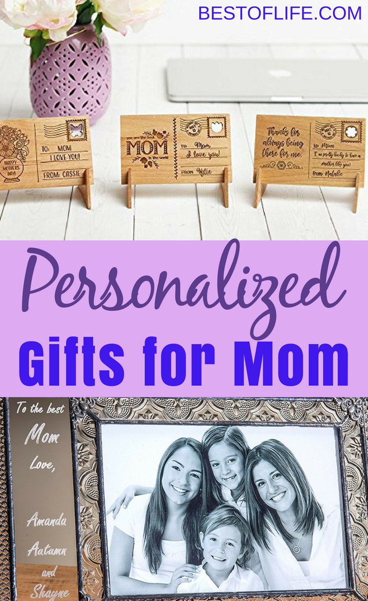 The best personalized gifts for mom don't need to cost an arm and a leg, they just need to be meaningful to your mom and show that you put in more effort than most. Once you have the message, you can get the best Mother's Day gifts that mom will love any day of the year. #giftsformom #mothersday #giftguide #giftideas