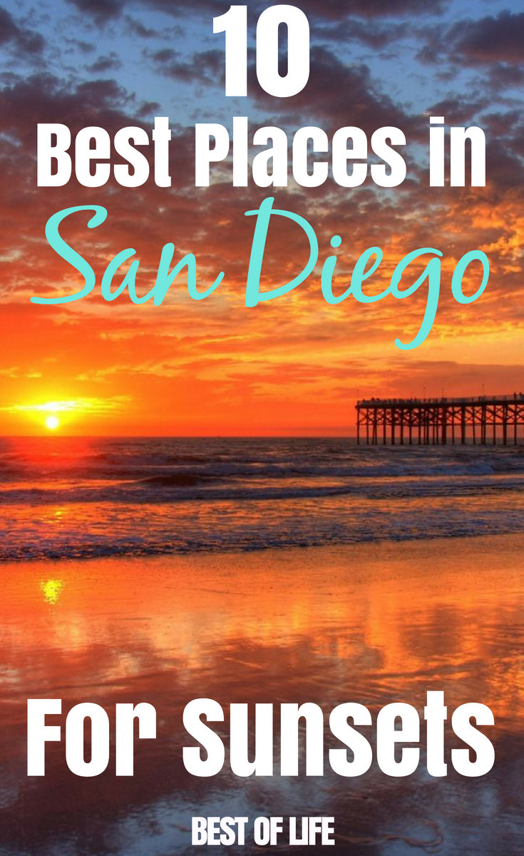 Whether you're a visitor or resident, one of the most popular things to do is to enjoy the sunset in San Diego and here's where to find the best sunset views in San Diego. #sandiego #sandiegotravel #travel #sunset #sunsetlovers #bestsunsets