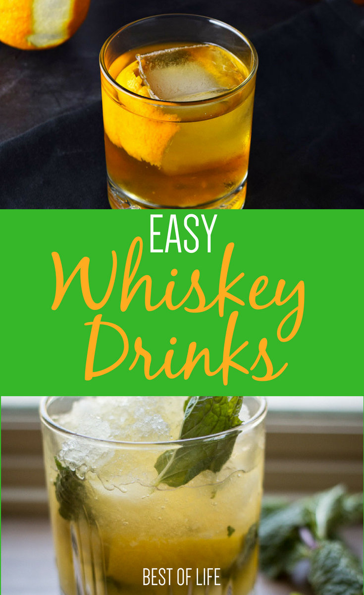 Learn how to enjoy whiskey more with some easy whiskey drinks that just about anyone can make and you may end up with a new favorite happy hour drink. Whiskey | Whiskey Drinks | Whiskey Cocktails #cocktails #cocktailrecipes #happyhour