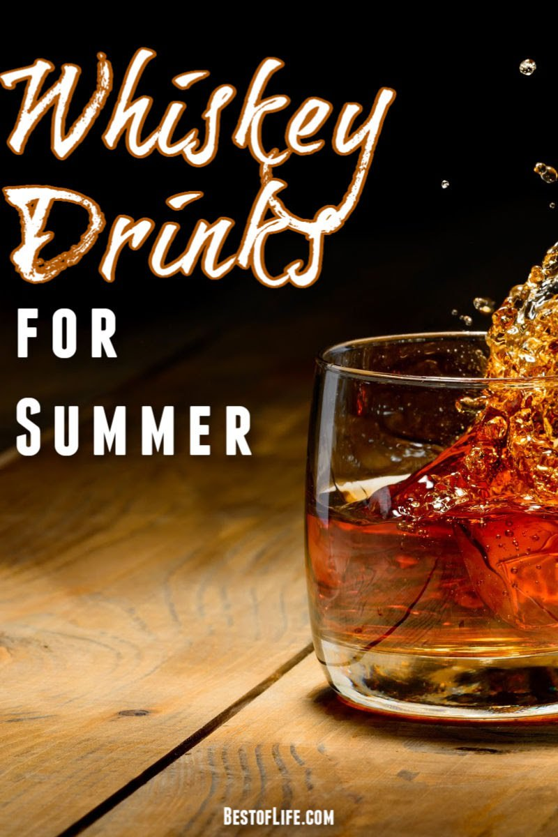The best whiskey drinks for summer can open you up to a whole new world of whiskey cocktails that are refreshing and easy to make. Whiskey Cocktails | Best Whiskey Cocktail Recipes | Easy Whiskey Cocktail Recipes #whiskey #summer #cocktails
