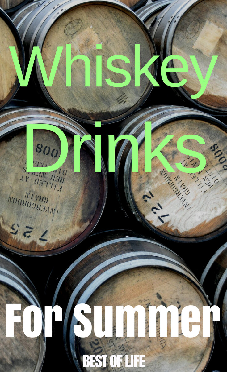 The best whiskey drinks for summer can open you up to a whole new world of whiskey cocktails that are refreshing and easy to make. #whiskey #summer #cocktails | Whiskey Cocktails | Best Whiskey Cocktail Recipes | Easy Whiskey Cocktail Recipes