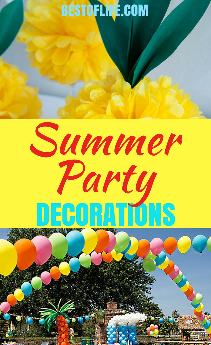Using summer decorations for an outdoor party you can create a special vibe for the party and add a level of care that will be obvious to everyone. #summerparty #DIYdecor #DIY | best Summer Party Decorations | Best DIY Party Decorations | Easy DIY Party Decorations