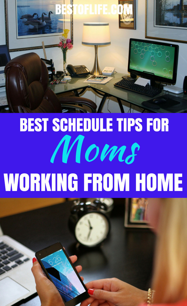 If you work from home, you can be happier and more motivated each dayas long as you use the best work at home mom schedule tips. #workfromhome #work #schedule | Best Tips for Working at Home | How to Work From Home | Schedule Tips