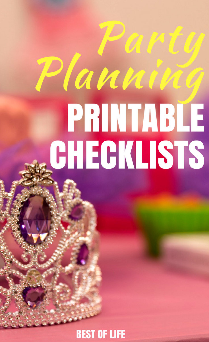 Save yourself some time and energy by using the best party planning checklist printables to help you plan your party. #party #planning #organized | Best Party Planning Tools | Free Party Checklist Printables | best Party Planning Checklists
