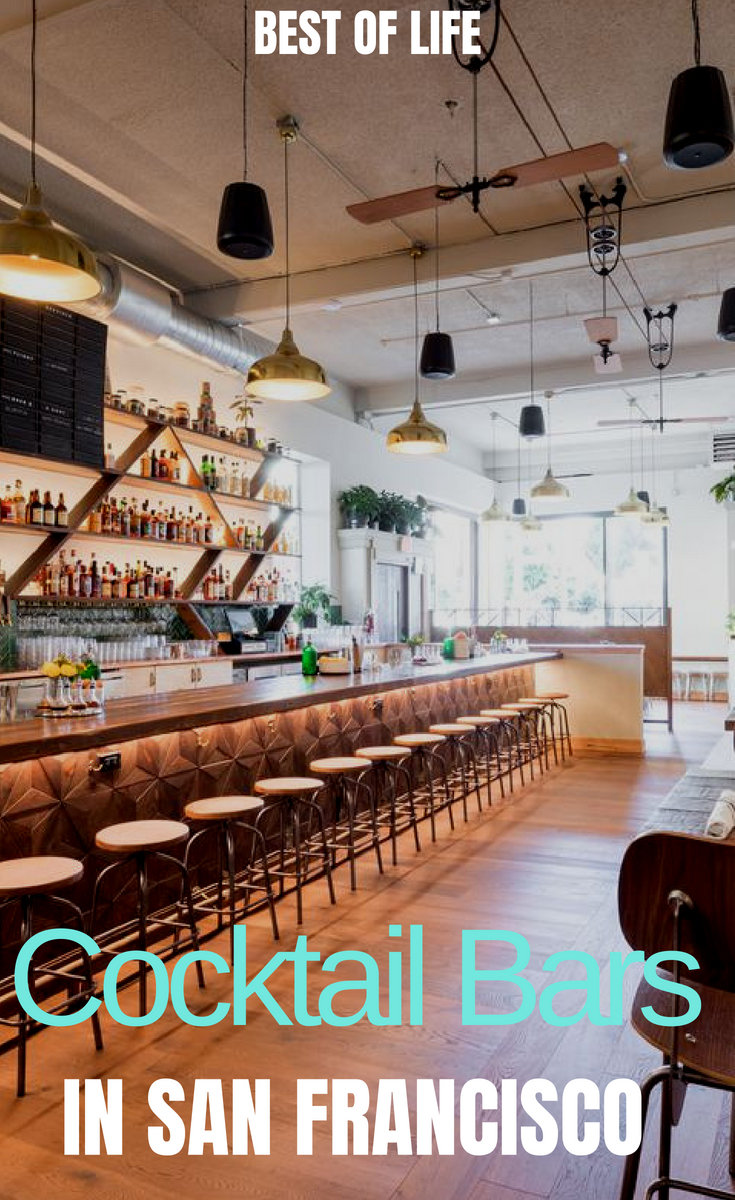 The best cocktail bars in San Francisco can take you back in time or shoot you into the future and allow you to enjoy an amazing night out in Fog City. Where to Drink in San Francisco | What to do in San Francisco | Things to do in San Francisco | Things to do in California #happyhour #travel #sanfrancisco #cocktails
