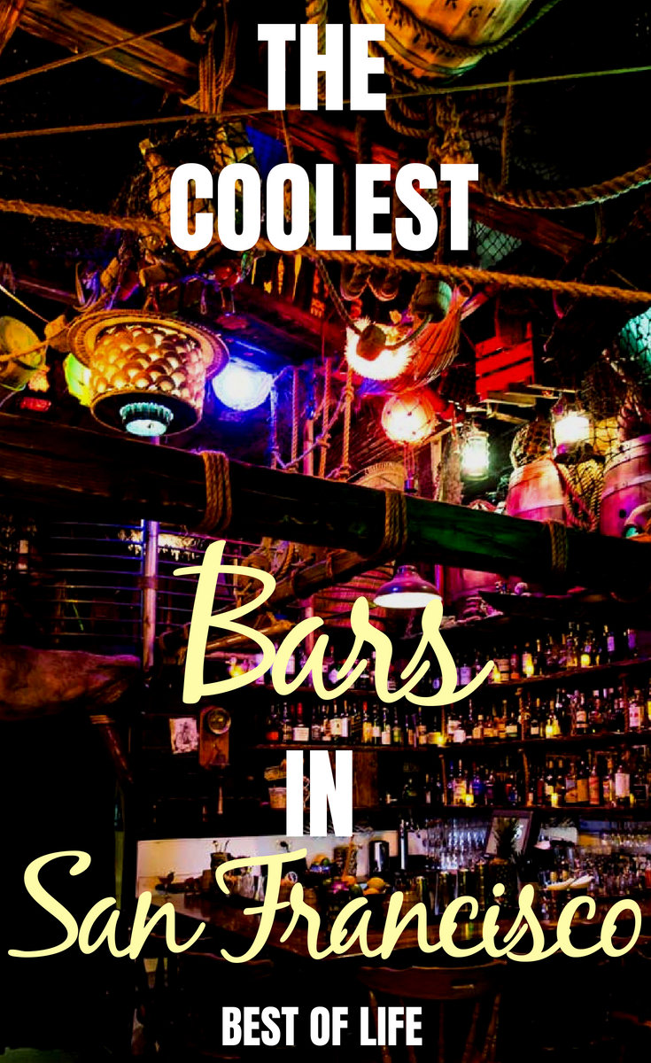San Francisco is full of things to do! While visiting, be sure to check out the coolest bars in San Francisco. Best Bars in San Francisco | Best Themed Bars in San Francisco | Where to Drink in San Francisco #sanfrancisco #bars #cocktail #happyhour