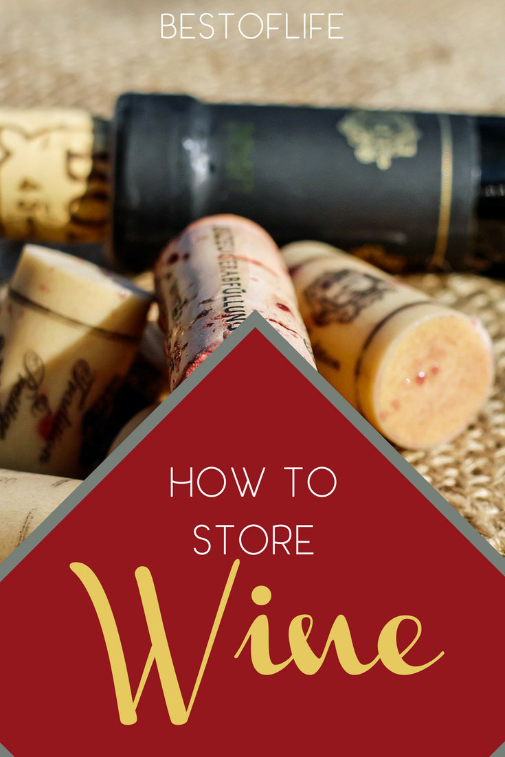 Once you figure out how to store wine properly, you can stock up on your favorite wines and keep those wine club shipments coming. Ways to Store Wine | How to Keep Wine Good | Wine Storage Tips | Where to Store Wine | What Temp to Store Wine at #wine #whinos #winetips via @thebestoflife
