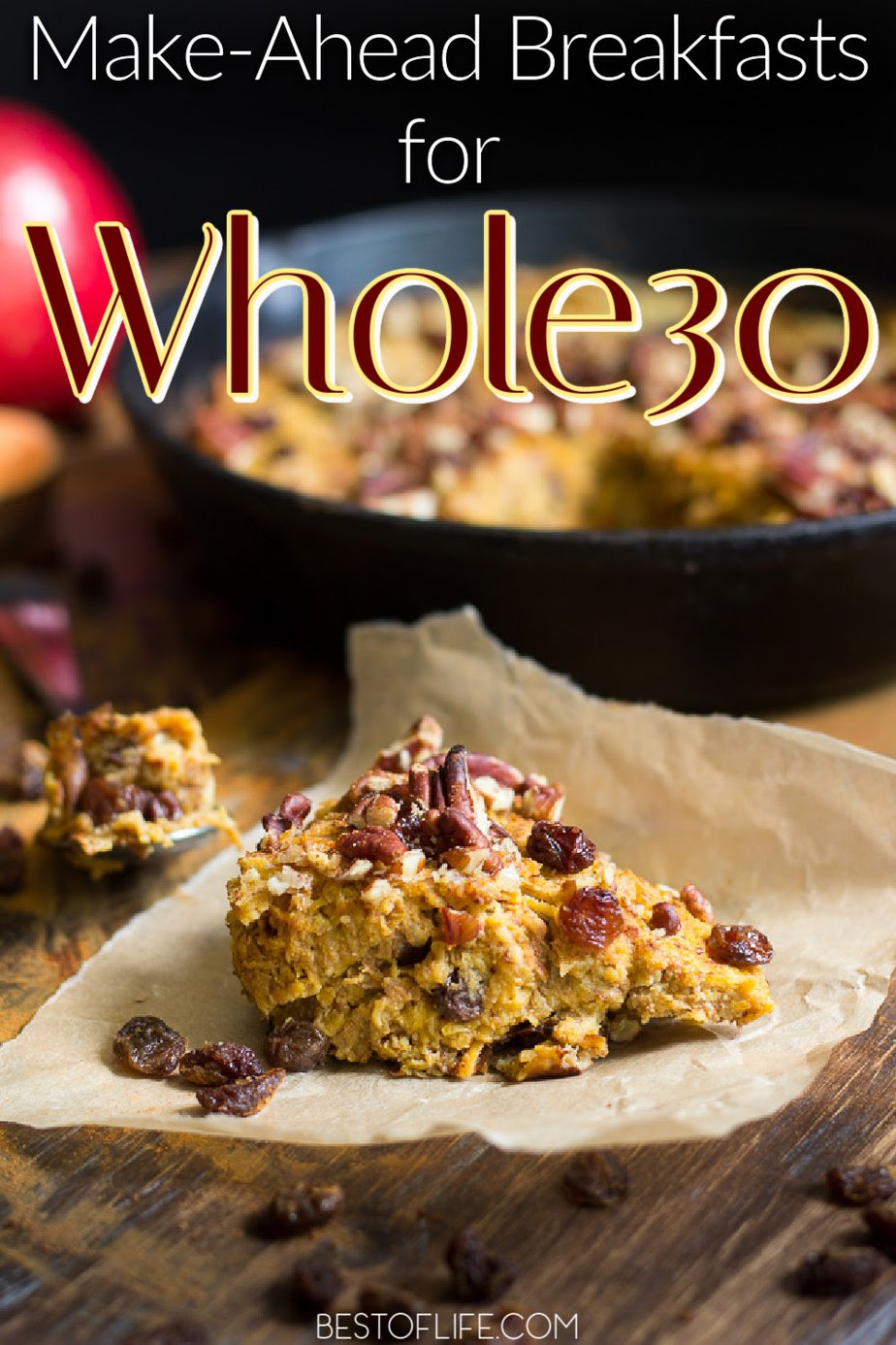 These make ahead Whole30 breakfast recipes are the perfect jumping off point to lose weight and you won't even have to revamp all of your go-to recipes either. Whole30 Breakfast Casserole Recipes   Breakfast No Eggs Whole30   On the Go Breakfast Recipes Whole30   Whole30 Breakfast Sausage   Whole30 Breakfast Hash   Make Ahead Breakfast Recipes   Make Ahead Weight Loss Recipes #whole30 #breakfast via @thebestoflife