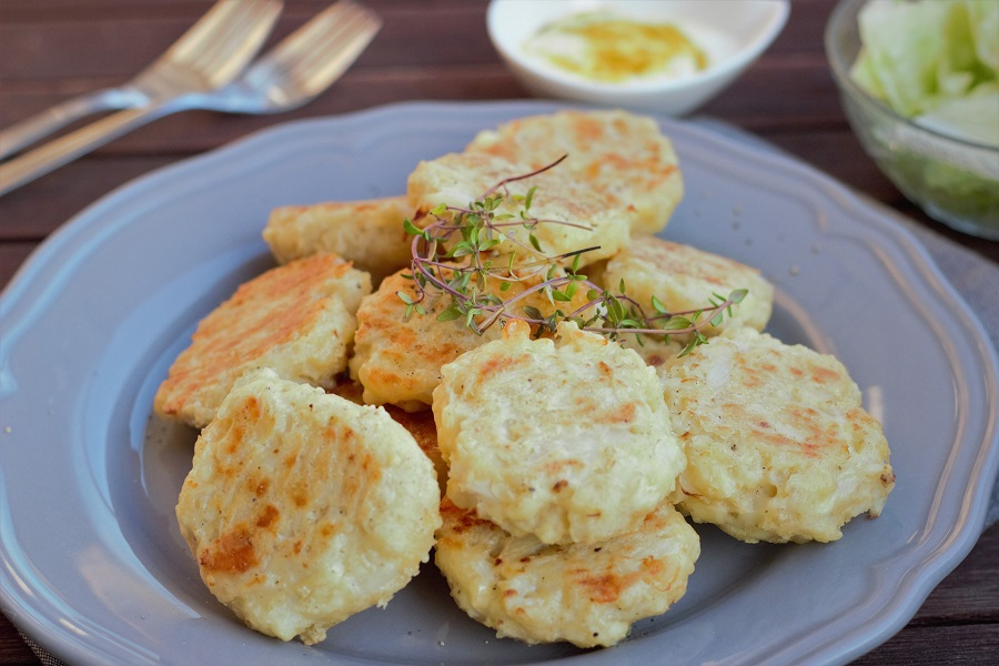 Whole30 Diet Rules a Plate of Cauliflower Patties