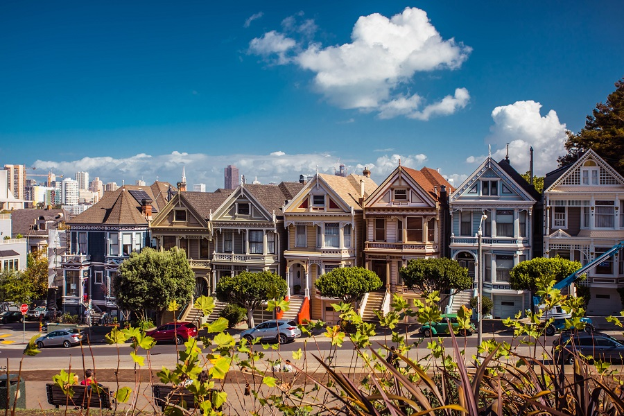 Best Restaurants in San Francisco Painted Ladies in San Francisco