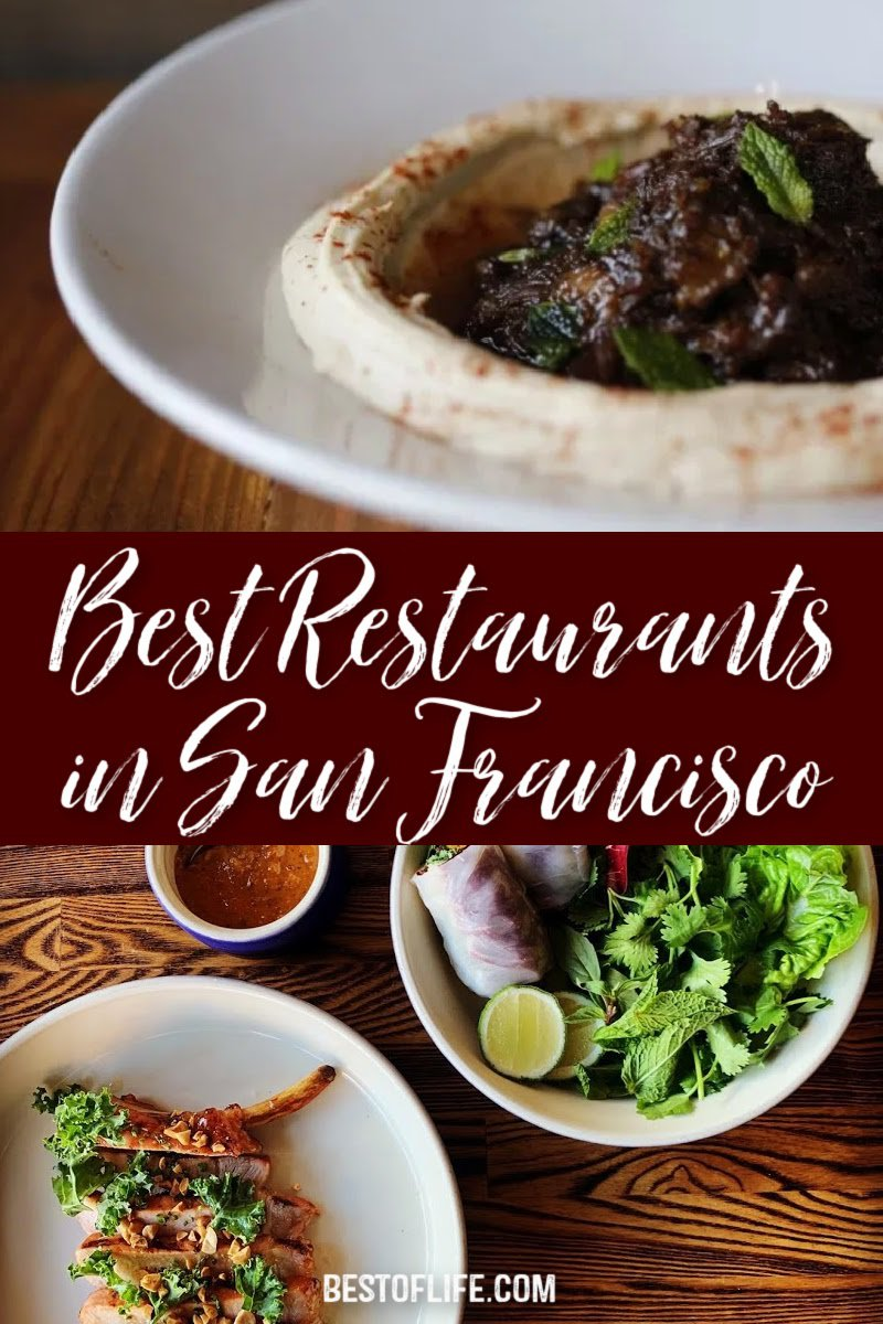 Experience the best restaurants in San Francisco that cover a wide array of cuisines and themes to fit your specific preferences. Things to do in San Francisco | Drinks in San Francisco | Bay Area Travel Tips | Travel Tips for San Francisco | Foodie Tips for San Francisco | Where to Eat in the Bay Area #sanfrancisco #traveltips